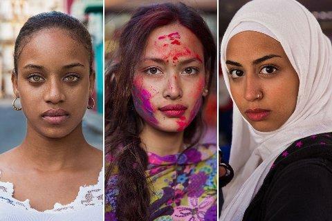 Atlas of Beauty har bilder av kvinner fra hele verden. Her er bilder fra Cuba, Nepal og Jordan.