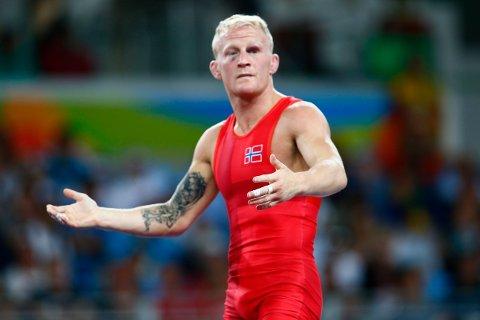UTE AV VM: Bryteren Stig-André Berge. Her under OL i Rio for tre år siden, da han tok bronse. Berge satser mot OL i Tokyo neste år.