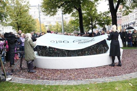 Monumentet ble avduket lørdag. Foto: Terje Bendiksby / NTB scanpix