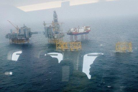 PROBLEMER: Johan Sverdrup-feltet sett fra lufta. Ved hard brexit frykter NHO at det vil bli driftsproblemer i oljesektoren. Foto: Carina Johansen / NTB scanpix
