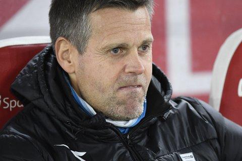 RASTE: Bodø/Glimt-trener Kjetil Knutsen var lite fornøyd med dommeravgjørelsen like før slutt.