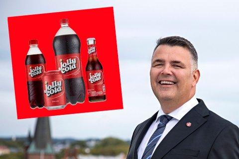 SMILER: Oljeminister Kjell-Børge Freiberg kan smile over et nytt oljefunn. Kutter vi norsk oljeproduksjon vil det ha like stor betydning som at vi sluttet med Jolly Cola.