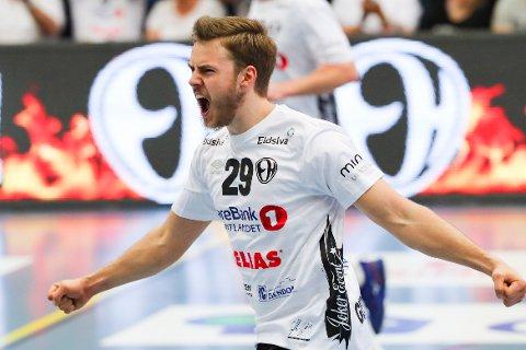 BRENNHET: Elverum-spilleren Sigvaldi Gudjonsson.