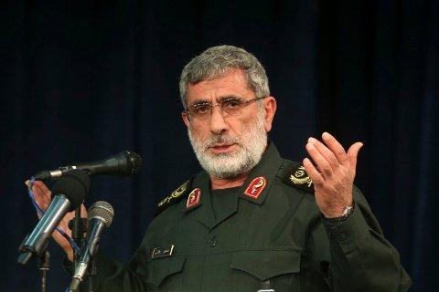 ETTERFØLGER SOLEIMANI: Den nye lederen av den iranske Revolusjonsgardens eliteenhet, Esmail Qaani, lover hevn mot USA.