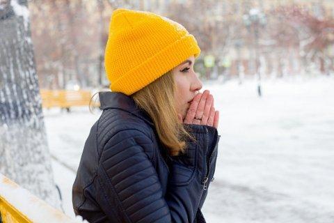 KALD: Mange fryser veldig lett, og spesielt kvinner fryser ofte mer enn menn.