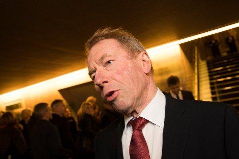 Jens Ulltveit-Moe selger elektrokonsernet Sønnico. Her er Ulltveit-Moe på NHOs årskonferanse, 2019.