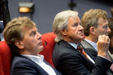 UT? Tidligere styreleder Bjørn Kise og eks-konsernsjef Bjørn Kjos er fortsatt største eier i Norwegian gjennom deres selskapet HBK Invest. De har imidlertid solgt seg kraftig ned.
