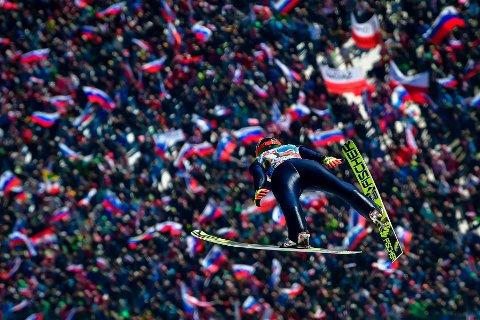 UTEN TILSKURERE: VM i skiflyvning i den populære Planica-bakken blir ingen folkefest denne gangen.