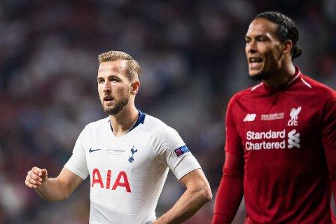 PROFILER: Premier League-stjernene Harry Kane og Virgil van Dijk i aksjon under fjorårets Champions League-finale i Madrid.