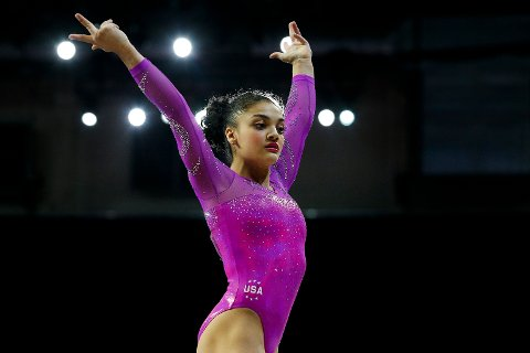 Laurie Hernandez vant OL-gull i Rio i 2016. Foto: Ian Terry/ AP / NTB scanpix.