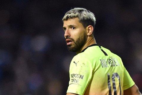BEKYMRINGSFULL: Manchester City-storscorer Sergio Agüero mener de fleste spillere i Premier League er redde for å starte opp igjen ligaspillet.