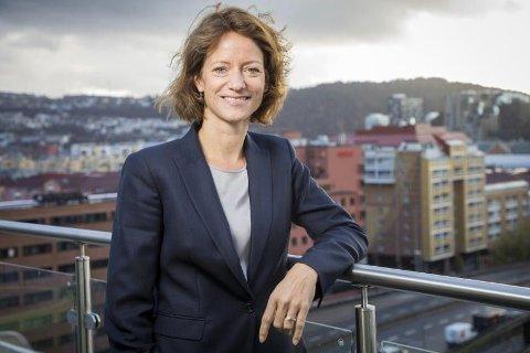 FLERE TILTAK: Konsernsjef Hege Yli Melhus ASK i NHST Media Group har måttet kutte mye for å kompensere for inntektsfallet.
