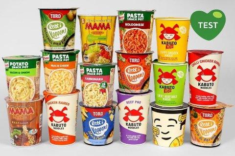 FORSKJELLER: Det er store forskjeller når det kommer til næringsinnhold blant produktene som ble vurdert i testen.