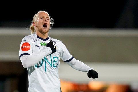 Godsets Lars Jørgen Salvesen spilte treningskampen mot Mjøndalen i helgen, og han starter antakeligvis også mot Stabæk i kveld.