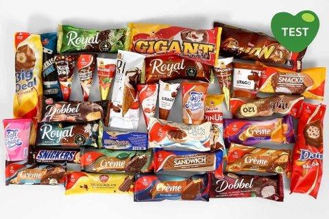 FORSKJELLER: Det er store forskjeller på kalori- og sukkerinnhold i kremisen, men én ting hjelper deg å velge.