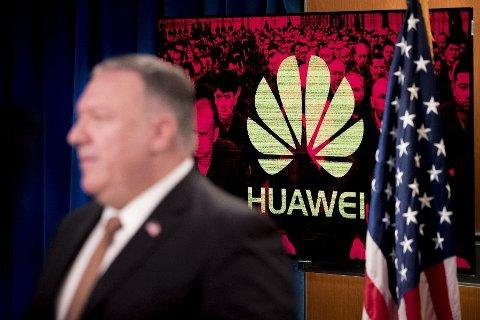 ESKALERER «KRIGEN» MOT KINA: Utenriksminister Mike Pompeo sier USA innfører reiserestriksjoner for ansatte i Huawei. Vurderer også medlemmer av kommunistpartiet.