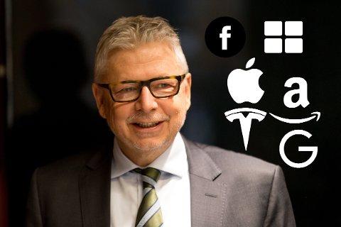 HAR TROEN: Sjefstrateg Erik Bruce i Nordea Markets satser på at teknologi-gigantene vokser videre.
