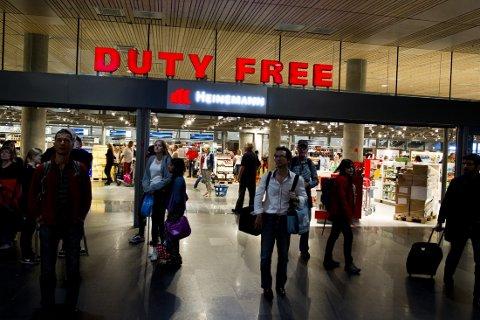TAP: Taxfree-butikkene har hatt kraftig nedgang i salget under koronakrisen.