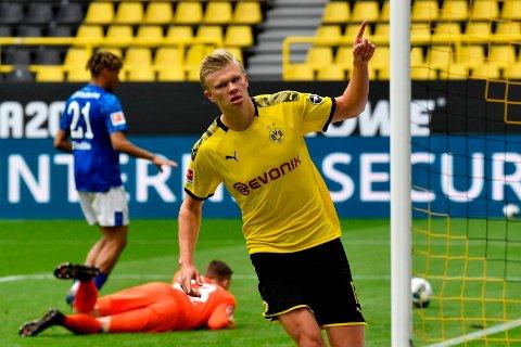 Erling Braut Haaland er en av favorittene til å bli toppscorer i Bundesliga denne sesongen.