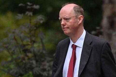ADVARER: Regjeringens øverste medisinske rådgiver, Professor Chris Whitty.