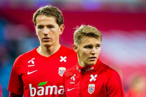 NY KAMP: Sander Berge og Martin Ødegaard må gjøre seg klar for ny kamp mot Nord-Irland.