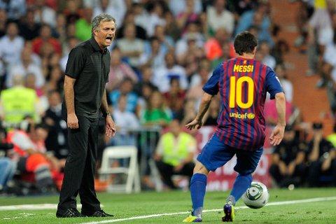 NÆR OVERGANG: José Mourinho og Lionel Messi skal ha pratet om en overgang for argentineren til Chelsea i 2014. Her fra da Mourinho trente Real Madrid.