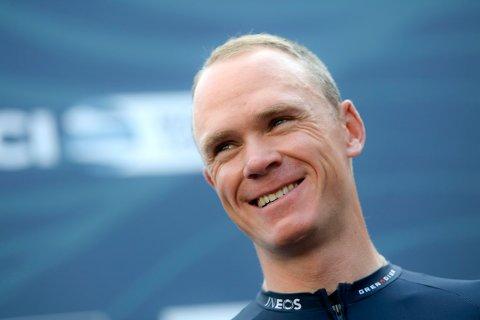 Chris Froome ble søndag hedret som vinneren av Vuelta a España 2011. Foto: Fabio Ferrari/LaPresse via AP/NTB