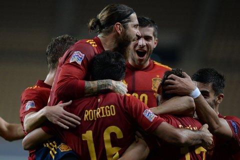 OVERLEGNE: Det spanske landslaget ydmyket Tyskland i tirsdagens Nations League-møte.