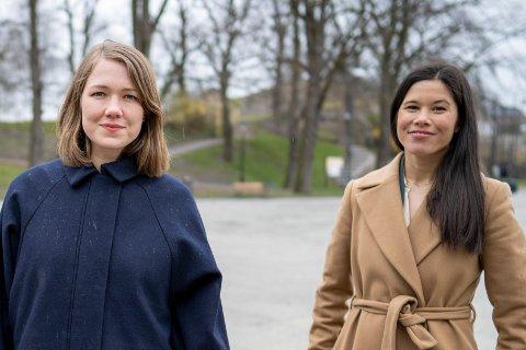 VELGER SIDE: Miljøpartiet de Grønnes talsperson, Une Bastholm (t.v) og partiets samferdselsbyråd i Oslo, Lan Marie Berg, vil begge på Stortinget neste periode. Da med støtte til rødgrønn side, om MDGs sentralstyre får det som de vil.