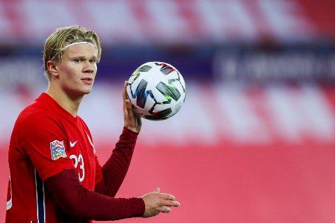 NORGE-PROFIL: Erling Braut Haaland får mandag vite hvilke lag han og de andre norske spillerne skal møte i VM-kvalifiseringen.