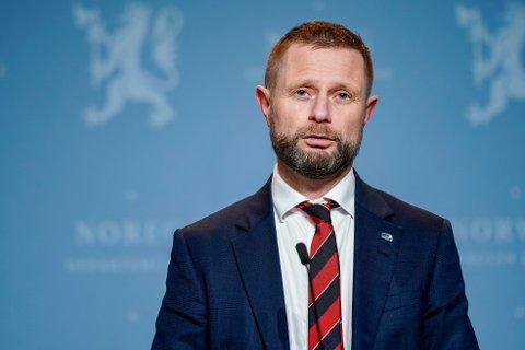 Helse- og omsorgsminister Bent Høie (H) har hatt nok å gjøre i 2020. Pressekonferanse har nærmest blitt hans mellomnavn i året som er gått.