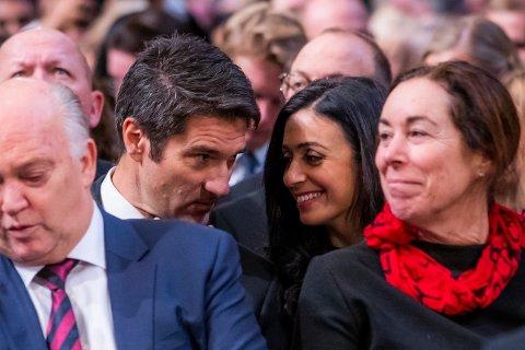 Kristian Skard og Hadia Tajik fikk mandag en datter. Her fra utdelingen av Nobels fredspris i 2018. Foto: Håkon Mosvold Larsen / NTB