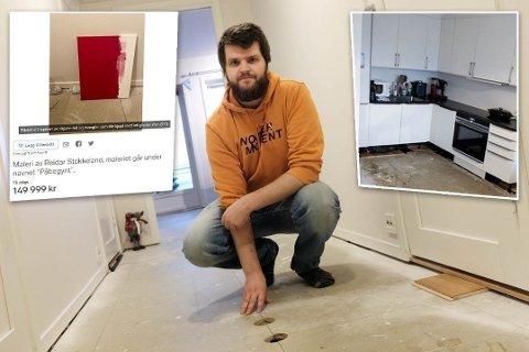 FORTVILET: Reidar Stokkeland har latt frustrasjonen over boligen gå over til galgenhumor med sitt siste påfunn.