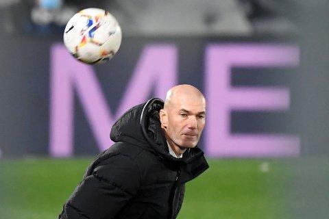 TESTET POSITIVT: Real Madrid-trener Zinedine Zidane.