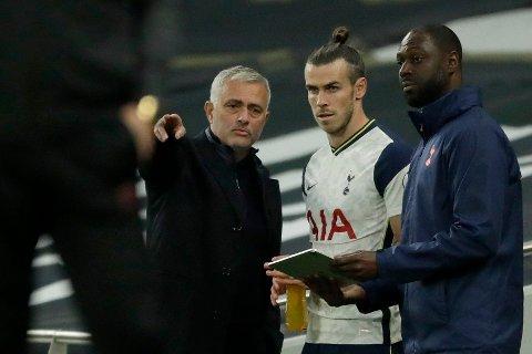 UTE: Gareth Bale var ikke å se i Jose Mourinhos tropp mot Everton.