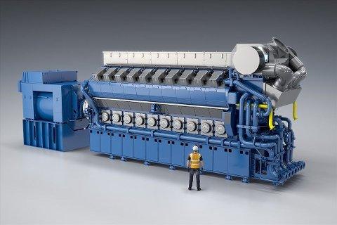 STORE MOTORER: Bergen Engines har spesialisert seg på store skipsmotorer og har Sjøforsvaret som en viktig kunde.