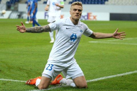 I STORSLAG: Molde og Eirik Ulland Andersen er langt utenfor sesong, men det hindret ikke haugesunderen i å score igjen mot Hoffenheim.