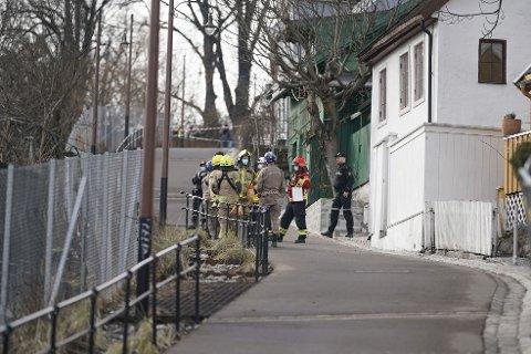 EVAKUERES: Flere boliger blir evakuert etter at det har gått et jordskred ved Telthusbakken i bydel St. Hanshaugen.