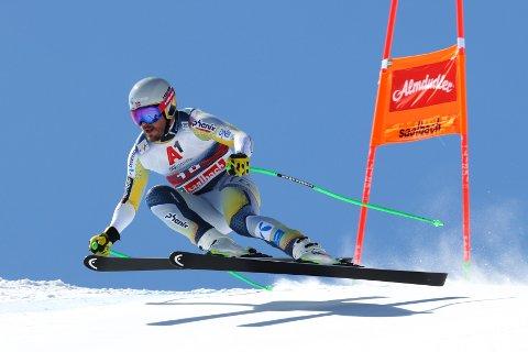 Kjetil Jansrud åpnet bra, men fikk det tyngre utover og endte langt bak. Foto: Alessandro Trovati / AP / NTB