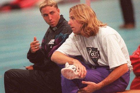 INNLAGT: Patrick Sjöberg er alvorlig syk og innlagt på sykehus. Her er svensken sammen med Steinar Hoen i 1996.
