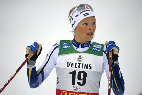BRØT: Frida Karlsson måtte bryte tremila i det svenske mesterskapet.