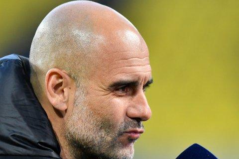 SUPER LEAGUE: Josep Guardiola fikk spørsmål om den nye ligaen på en pressekonferanse tirsdag.