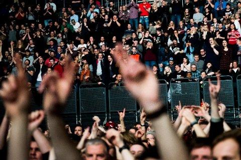 Folkehelseinstituttet ønsker å gjennomføre tre testkonserter med inntil 5.000 publikummere per konsert. Foto: Jon Olav Nesvold / NTB