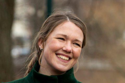 MDG-leder Une Bastholm fødte nylig en datter. Foto: Terje Pedersen / NTB