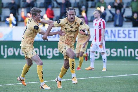 SCORET: Erik Botheim brukte rundt åtte minutter på å score sitt første ligamål for Bodø/Glimt.