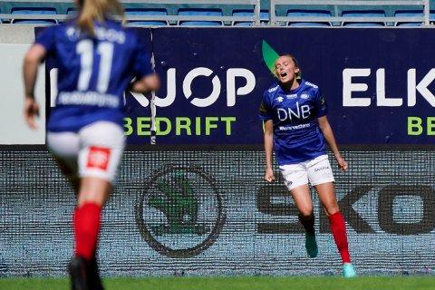 TOPPSCORER: Synne Jensen er toppscorer i Toppserien etter to serierunder.