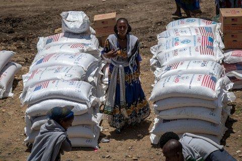 En sultkatastrofe er under oppseiling i Etiopias krigsherjede Tigray-region, advarer Verdens matvareprogram (WFP). Foto: AP / NTB