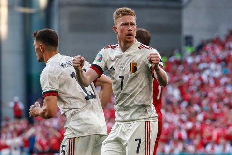 Kevin De Bruyne kom inn og vendte kampen for Belgia da Danmark ble slått i EM-sluttspillet. Foto: Wolfgang Rattay, Pool via AP / NTB