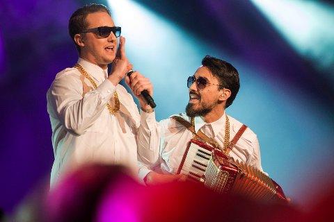 Anders Nilsen (tv) er en mann av mange talenter. Her under Spellemannsprisen 2014. Han og gruppa The White Doves var nominert til årets hit med sangen Salsa Tequila.