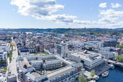Kristiansand sentrum. Illustrasjonsfoto: Tor Erik Schrøder / NTB